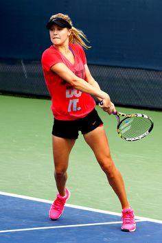 Genie Bouchard practice 2014 US Open