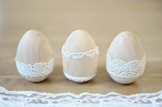 Wooden Easter Eggs #Wooden Eggs #Easter http://www.andreadozier.com/blog