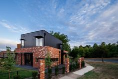 Box House by Paul Tilse Architects - Canberra Extension Architecture - The Local Project Brick House Designs, Brick Design, Modern House Design, Residential Architecture, Contemporary Architecture, Architecture Design, House Cladding, Facade House, House Canberra