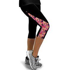 94d5437018 Leggings for Women Capris Leggins High Waist Elastic Exercise Female  Elastic Stretchy Leggings Slim Trousers M