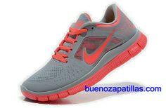 new arrival 8bad1 e01d0 Mujer Nike Free Run 3 Zapatillas (color   empeine y en el interior - gris. Nike  Air Max ...