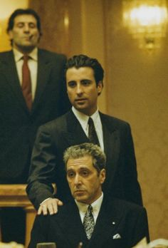 Andy Garcia and Al Pacino in The Godfather - Part Three The Godfather Part Iii, Godfather Movie, Corleone Family, Don Corleone, Andy Garcia, Young Al Pacino, Mafia, Gangster Films, Marlon Brando