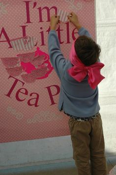 Little Girls Tea Party. I'm a little Tea Pot game. My version of Pin the Tail on the Donkey.Lots of Princess Party Game Ideas at www.myprincesspartytogo.com