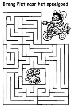 help piet naar het speelgoed Crafts For Kids, Arts And Crafts, Saint Nicolas, Letter B, Projects To Try, School, Rooms, Puzzles, Labyrinths
