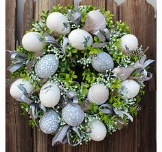 Easter Table Decorations, Easter Wreaths, Diy Wreath, Flower Arrangements, Xmas, Holiday Decor, Flowers, Handmade, Eggs