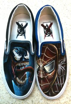 Painted Vans, Custom Painted Shoes, Hand Painted Shoes, Vans Skate Shoes, Custom Vans Shoes, Custom Sneakers, Vans Shoes Fashion, Marvel Shoes, Jazz Shoes