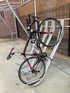 Semi Vertical Bike Rack | Semi Vertical Cycle Rack