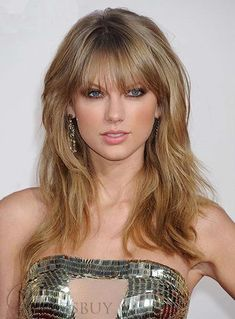 New Ideas hairstyles with bangs prom taylor swift Taylor Swift Hot, Style Taylor Swift, Red Taylor, Celebrity Hairstyles, Hairstyles With Bangs, Cool Hairstyles, Hair Styles 2014, Long Hair Styles, Blonde Jungs