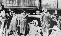 At every railroad station of the Transcaucasus, the workers of the Near East Relief came upon starving Armenian children.