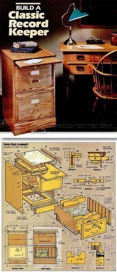 File Cabinet Plans - Furniture Plans and Projects - Woodwork, Woodworking, Woodworking Plans, Woodworking Projects Woodworking Furniture Plans, Diy Furniture Plans Wood Projects, Woodworking Projects That Sell, Woodworking Wood, Furniture Making, Office Furniture, Muebles Home, Cabinet Plans, Small Wood Projects