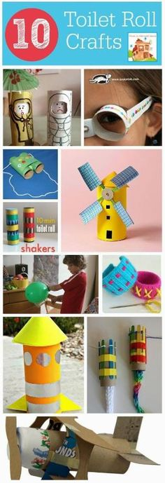 A Thrifty Mum: 10 Cardboard roll crafts including a rocket that flies and many more (loo rolls, cardboard tube or toilet rolls) by kasrin.knackebrot