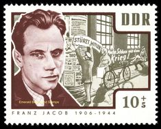 EBS East Germany DDR 1963 murdered anti-Nazi activists (III) Michel 1014-9 MNH** | eBay