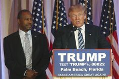 """Ben Carson, the former neurosurgeon who dropped out of the presidential race last week, endorsed Trump Friday, praising his """"guts"""" and """"energy."""""""