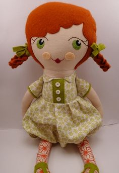 Ida - handmade cloth doll, rag doll