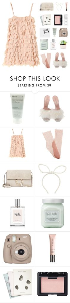 """happy fourth of july! ♡"" by my-pink-wings ❤ liked on Polyvore featuring Korres, Agent Provocateur, Brother Vellies, Chloé, Laura Mercier, Fujifilm, Burberry, Maison Scotch, NARS Cosmetics and Chantecaille"