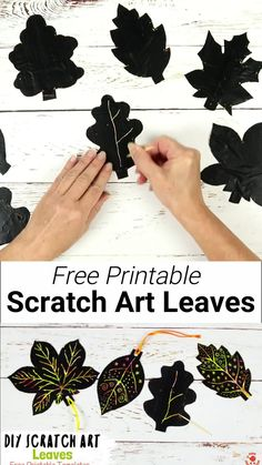 DIY SCRATCH ART LEAVES are gorgeous! This Fall leaf craft is easy to make with our free printable templates and so colourful and vibrant! A lovely leaf art idea for Fall and Thanksgiving. #Fall #Fallcrafts #Autumn #Autumncrafts #Fallart #kidsart #artideas #leaves #leaf #scratchart #leafart #leafcrafts #kidscrafts #kidscraft #craftsforkids #kidscraftroom Fall Leaf Template, Leaf Template Printable, Free Printable, Owl Templates, Heart Template, Butterfly Template, Applique Templates, Flower Template, Applique Patterns
