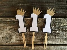 Wild One Cupcake Toppers - Baby Shower, Birthday Party, Where the Wild Things Are Inspired by BlueOakCreations on Etsy https://www.etsy.com/listing/557660547/wild-one-cupcake-toppers-baby-shower
