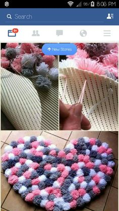 Pin by Specialgifts on Geschenke Tulle pom pom mobile Baby mobile Decorative by PomPomMyWorld - Salvabrani I love this idea - Diy and Crafts Diy Pom Pom Rug, Pom Pom Crafts, Yarn Crafts, Pom Poms, Tulle Pom, Diy Home Crafts, Creative Crafts, Creation Deco, Diy Room Decor