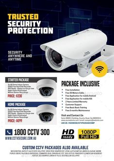 Buy CCTV Shop Promo Flyer by Artchery on GraphicRiver. CCTV Shop Promo Flyer Design Template Boost your company's sales and attract new customers! This CCTV Shop Promo Flye. Flyer Design Templates, Flyer Template, Flyer Promo, Brochure Design, Branding Design, Pamphlet Template, Cctv Camera Installation, Catalogue Layout, Medical Brochure