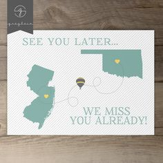 Moving away gift / card / best friend moving away / by greylein
