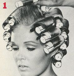 """""""Magic Slot Rollers"""" Ad in Modern Salon's How-To Book Anyone ever seen or used these curlers? 1970s Hairstyles, Permed Hairstyles, Vintage Hairstyles, Vintage Hair Salons, 1960s Hair, Wet Set, Bobe, Pin Up Hair, Curlers"""