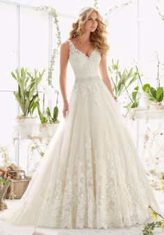 2017 Vestido De Noiva Romantic A Line Lace Wedding Dress With Train Custom Made White Ivory Bridal Gown Robe De Mariage