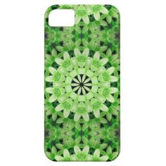 GREEN KALEIDOSCOPE FLORAL IPHONE CASE iPhone 5/5S COVER