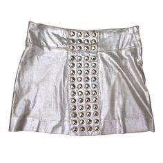 Silver Betsey Johnson for Paraphernalia miniskirt. #EdieSedgwick #BetseyJohnson #ParaphernaliaBoutique #Sixties #1960s