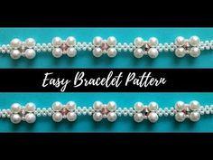 Beaded bracelet. Beading tutorial (easy bracelet pattern) - YouTube