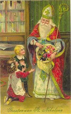 Many people today don't realize that even Santa Clause (a., SAINT Nicholas) has his origin in Christianity. Santa Claus Story, Santa Claus Images, Santa Clause, German Christmas Markets, Old Fashioned Christmas, Victorian Christmas, Vintage Christmas Cards, Father Christmas, Christmas Art