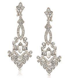 Nina Crystal Chandelier Statement Earrings #Dillards | Jag Burt ...