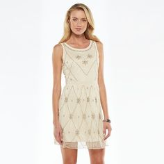 LC Lauren Conrad Beaded Mesh Dress - Women's
