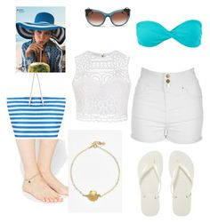 """Let's go to the beach :D"" by laisy-daisy ❤ liked on Polyvore featuring moda, ki-ele, ASOS, Havaianas, Jane Norman, Volcom, Ally Fashion, Humble Chic e Thierry Lasry"