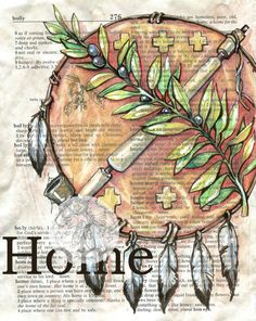 PRINT  Oklahoma HOME Mixed Media Drawing on by flyingshoes on Etsy, $35.00  read the story of this drawing at www.flyingshoesstuio.blogspot.com