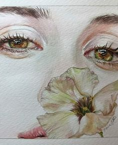 Reina Yamada is an artist who works actively in Japan and is the author of many works of watercolor art. The re-adaptation of watercolor paint. Watercolor Face, Watercolor Portraits, Watercolor Illustration, Art And Illustration, Watercolor Paintings, Watercolor Trees, Watercolor Landscape, Abstract Paintings, Kunst Inspo
