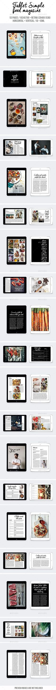 Tablet Simple Food eMagazine Template #emagazine Download: http://graphicriver.net/item/tablet-simple-food-magazine/10260763?ref=ksioks