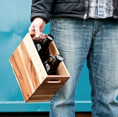 """Handy beer growler crate for two 64ozers  www.LiquorList.com  """"The Marketplace…"""