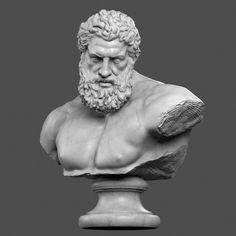 3d hercules bust