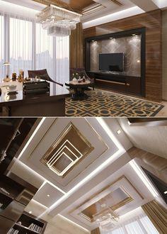 Домашний кабинет в стиле арт-деко - Галерея 3ddd.ru