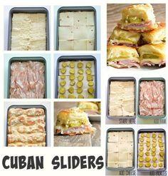 Mega łatwa zapiekanka i to ze składników który chyba każdy ma w domu. Cuban Sliders, Sausage, Cheese, Meat, Food, Sausages, Essen, Meals, Yemek