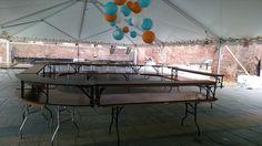 Bar setup at Tredegar
