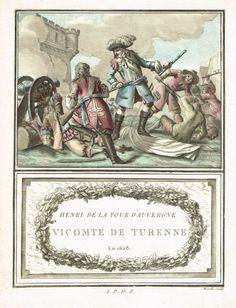 Henri de la Tour d'Auvergne - Vicomte de Turenne - en 1658 - à Dunkerque - aquatinte par Mixelle - MAS Estampes Anciennes - Antique Prints since 1898