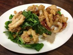 Taiwanese fried squid tentacles