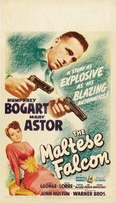 The Maltese Falcon 1941 Poster Film Noir Maltese Falcon Movie Movie Posters
