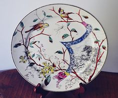 Your place to buy and sell all things handmade Antique Plates, Vintage Plates, Tree Watch, Sitting In A Tree, Country Scenes, Makers Mark, Gifts For Mom, Hand Painted, Colours