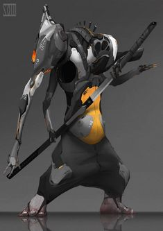 Machine Ninja, mo xuan zhang on ArtStation at https://www.artstation.com/artwork/machine-ninja