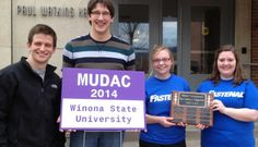 Concordia's data analytics team took first place at the 2014 Midwest Undergraduate Data Analytics Competition at Winona (Minn.) State University. #cordmn