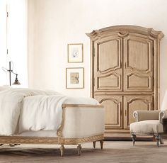 Gustavian Oak Armoire | Wood Shelving & Cabinets | Restoration Hardware