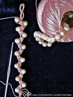 Uncinetto d'oro: Collana all'uncinetto con perle!