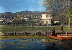 1934, Italy --- Italians fish in Lake Bolsena --- Image by © Hans Hildenbrand/National Geographic Society/Corbis